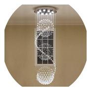 Lustre Cristal 3 Globos 60cm 2,5 Metros A 3 Metros Promoção