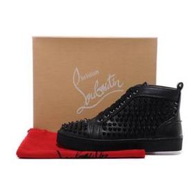 Zapatos Christian Louboutin Negros Piel Bota