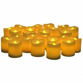 200 Velas Led Ambar Amarillas Adornos Centros De Mesa Bodas