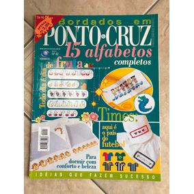 Revista Bordados Em Ponto De Cruz 15 Alfabetos Completos