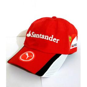 Boné Ferrari Santander F1 Aba Curva Bordado 1d4ba7fc928