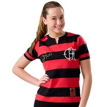 Camisa Do Flamengo Baby Look Licenciada Oficial Retrô Zico