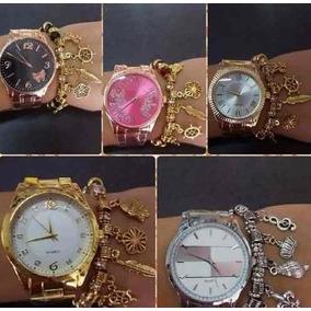Kit C/ 05 Relógios Feminino Pulseira Atacado/revenda