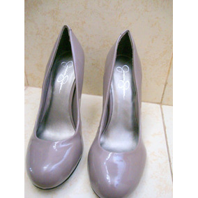 Jessica Simpson Zapatos De Charol Beige # 6.5 Mex