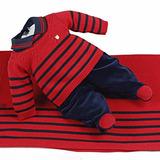 Saída De Maternidade Beth Bebê Vermelha Masculino Tricô Luan