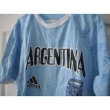 Franela Argentina Talla Única Camiseta Algodón Fútbol Nueva
