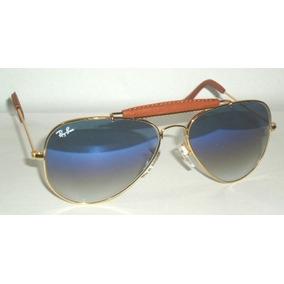 Rayban Dourado Lente Azul Degrade - Óculos no Mercado Livre Brasil 89c2146c96