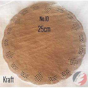 Blondas Carpetitas De Papel Kraft 100pzs 25cm #10 Mantel