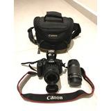 Cámara Canon Rebel T5i Kit 18-55mm + 55-250mm Como Nueva