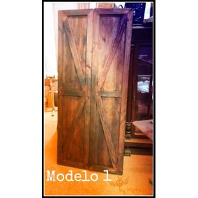 Puerta corrediza de madera p embutir aberturas en for Puerta granero madera