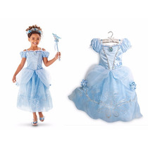 Fantasia Vestido De Festa Princesa Cinderela. Frete Gratis