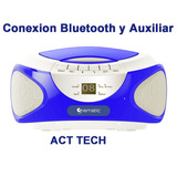 Grabadora Bluetooth Parlante Reproductor Cd Mp3 Radio Ematic