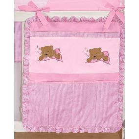 Porta Treco P/ Quarto De Bebê Nova Urso 1 Peça Cor Rosa