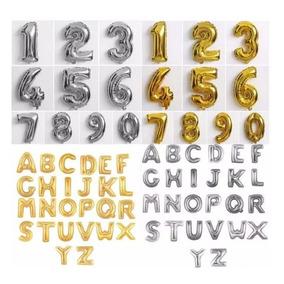 Balão Letras E Números Grande Barato! - 75cm - Frete 9,90