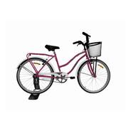 Bicicleta Rodado 26 Dama Mujer Paseo Full Urbana Con Porta