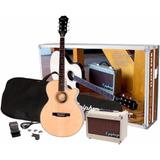 Kit De Guitarra Epiphone Electro Acustica Amplificador Y Mas