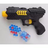 Arma Pistola De Brinquedo Atira Dardos Plástico Bolinha Gel