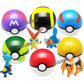 Juguete Pokemon Pokebola + Figura Pokeball Go Pikachu Niño