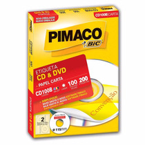 Etiqueta Cd E Dvd Pimaco Cd100b - 115mm