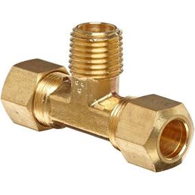 Anderson Metales Brass Tubo De Empalme, Tee, 1/2 Compresión