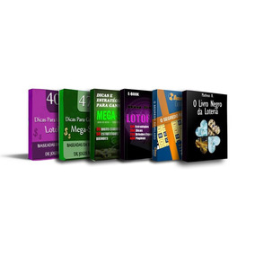Guia O Livro Negro Da Loteria + Kit 5 Livros De Loteria