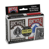 Bicycle Standard Poker Naipes Paquete De 4