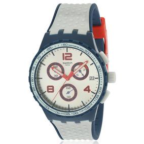 Reloj Swatch Para Hombre Susn411 Gris Correa De Goma Suizo