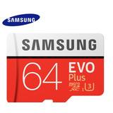 Cartão Micro Sd Sdxc Samsung Evo 64gb 100mb/s Uhs-i U3