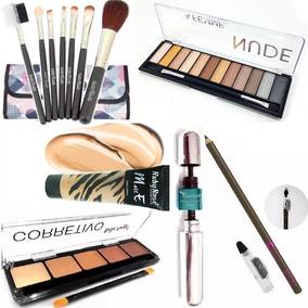 Kit Maquiagem Completo P/ Maleta Ruby Rose Rimel 4d Pincéis