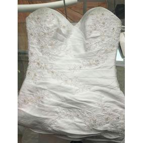 Vestido De Novia Eduardo Nieves Blanco Nuevo Con Pedreria