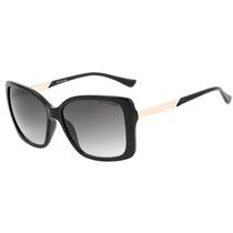 Atitude At 5277 - Óculos De Sol A01 Preto E Dourado Brilho/