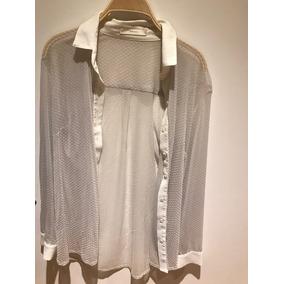 Camisa De Mujer Awada T1 De Vestir Mangas Largas Color Crema