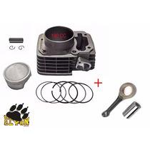 Kit Cilindro Motor 190 Cc Para Titan 150 / Bros 150 + Biela