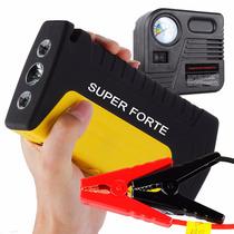 Auxiliar Partida Veicular Portátil + Mini Compressor Pneu