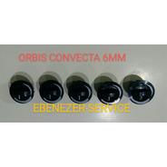 Perillas Gris Cocina Orbis Convecta Vastago 6mm Juego X 5 !!