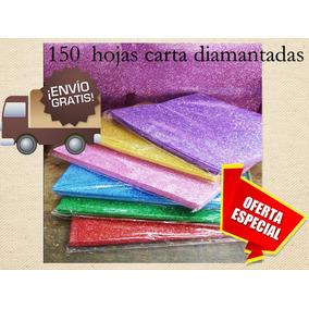 150 Hojas De De Foamy Diamantado En Carta Para Papelerias