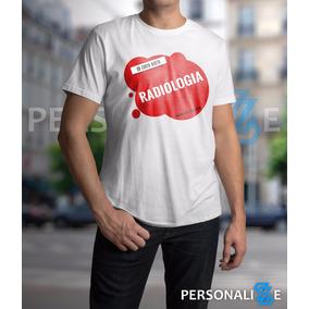 Camiseta Masculina Curso De Radiologia Vermelha