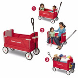 Vagon Montable Radio Flyer Carrito 3-en-1 Niños Envio Gratis