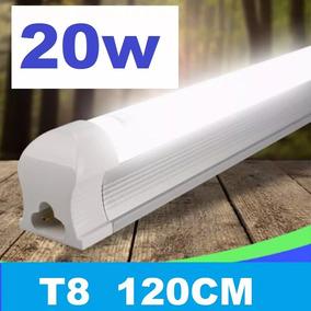 Kit 5 Lampada Led Tubular 120 Cm 6000k Calha Acoplada 20w