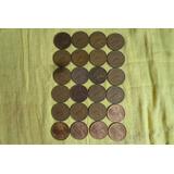 Lote De Monedas De 20 Centavos 1942 Al 1974