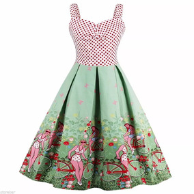 Vestido Anos 60 Vintage Pinup Retrô De Bolinha Polka Dot