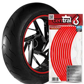Friso Filete De Roda Yamaha Dt 180z Trail Vermelho Refletivo
