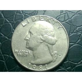 Top Eua, Estados Unidos Moeda Quarter Dollar 1981 Arremate