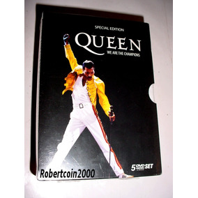 Box 5 Dvds - Queen - We Are The Champions - Special Edition