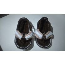 Zapatitos Tejidos Para Niña Sandalias Crochet Detalles Luz!!