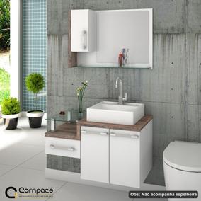 Gabinete Armário P/banheiro (balcão+cuba Q39) Legno 830 #