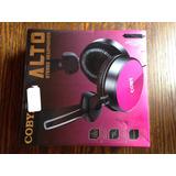 Coby Alto Stereo Headphones Color Rosa