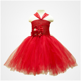 Vestido Tutu Para Niña Color Rojo