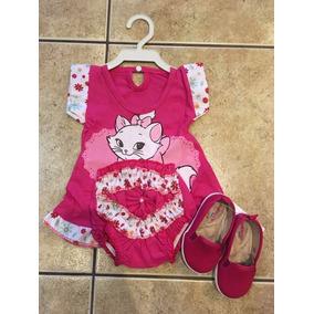 Conjunto Vestido Curto Com Calcinha Baby