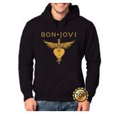Blusa De Frio Moletom Bon Jovi Moleton Unissex